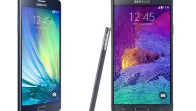 Confronto Samsung Galaxy Note 4 e Galaxy A5