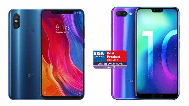 confronto xiaomi mi 8 honor 10